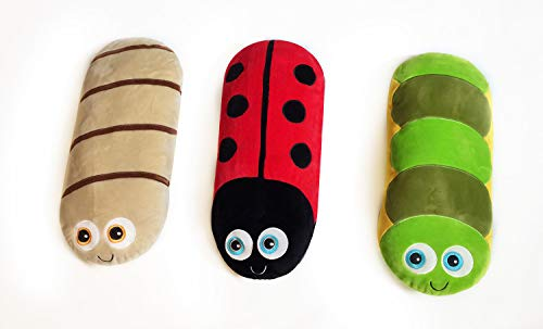Nature Bolster Buddy Sensory SEN Cushions Worm Ladybird Caterpillar Early Years KS1 KS2 Pack 3