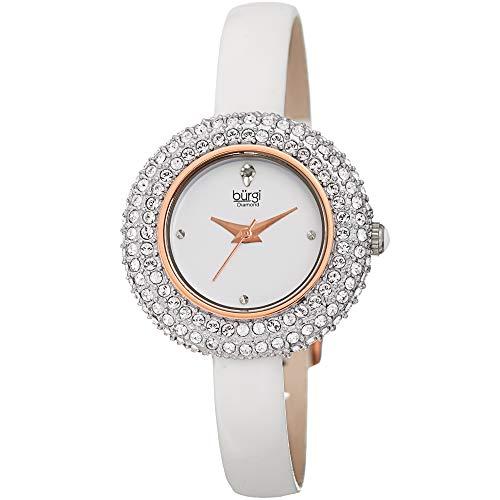 Burgi donna BUR195WT Swarovski Crystal & diamante Accentati oro rosa e...