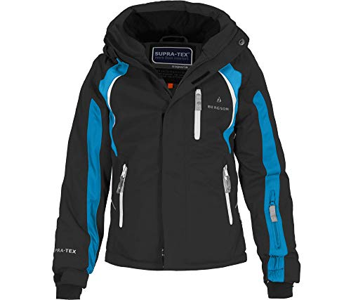 Bergson Kinder Skijacke Jens, Black/Methyl Blue [9082], 152 - Kinder