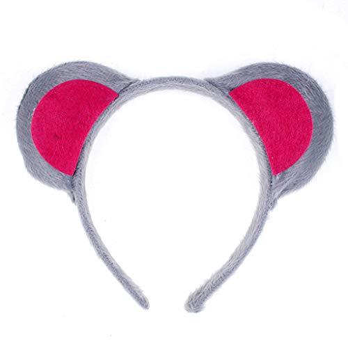 NINGYE Cartoon-Tierohren Stirnband für Mädchen, kurzes Plüschhaar, Cosplay, Party-Requisite.