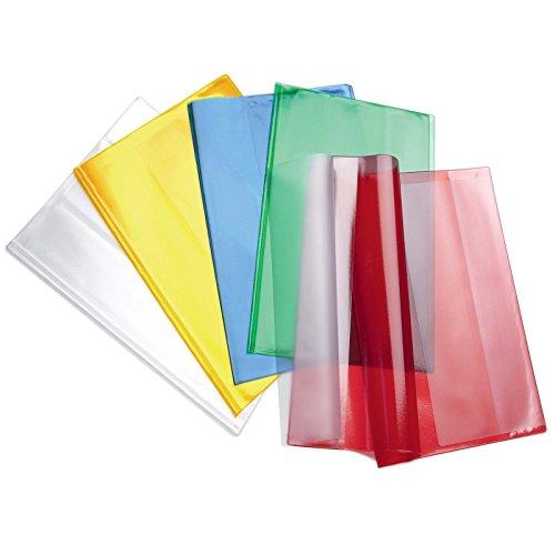 Aurora Store 10 COPRIQUADERNI Maxi PPL A4 COPERTINE QUADERNONI Trasparenti Colorati Favorit