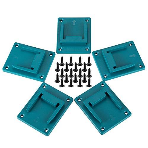 Werkzeughalter für Makita 18 V Bohrmaschinen-Halterung, Aufhänger (5 Stück, Cyanblau)