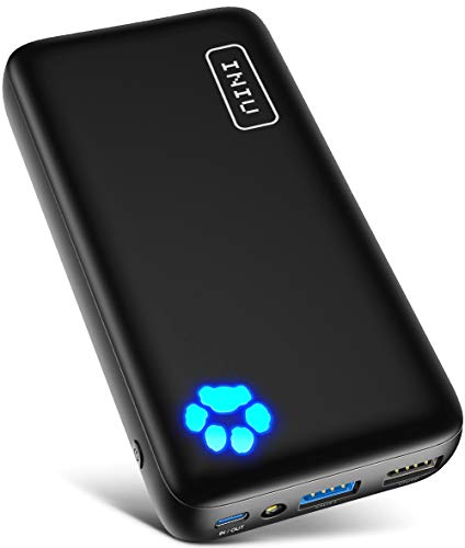 INIU Bateria Externa Movil, Compacto 20000mAh Power Bank con USB C y Salidas De 3A, Cargador Portatil Con Linterna Para iPhone Xs 8 7 Plus iPad Airpods Samsung S20 S10 Note 20 10 Xiaomi LG Etc.