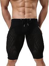 Men's Fashion Breathable Mesh Elastic Training Shorts Swim Trunks Beach Pants (L: 30