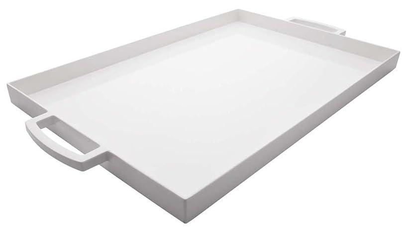 Zak Designs 19.5in x 11.5in Large MeeMe Serving Tray, Eggshell White LT
