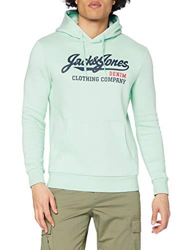 JACK & JONES Male Hoodie Logo Sweat LBleached Aqua