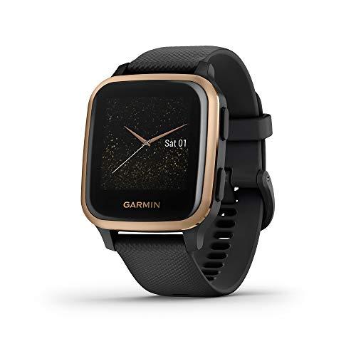 Garmin Venu Sq Music, Reloj Inteligente con GPS, Negro/Rosa Dorado, Amazon Edición Especial