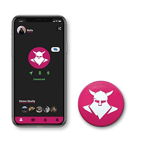 Tocsen Sensor GPS Sturzhelmsensor zum Aufrüsten für Fahrradhelm, Skihelm und Reithelm, pink, one size