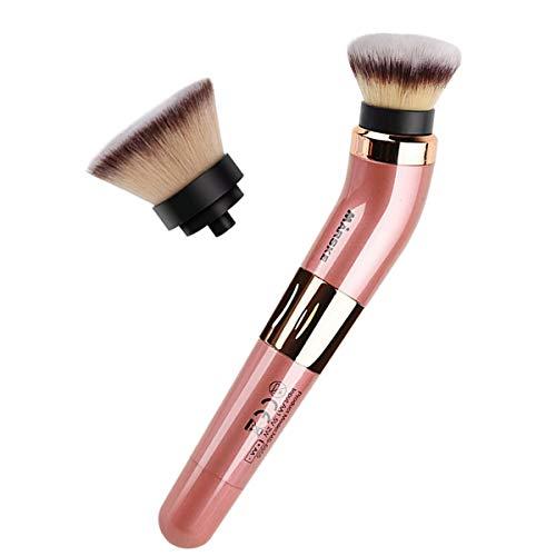 Camidy Brosse de Maquillage Rotative Électrique Brosse Cosmétique Rotative Portable à 360 Degrés avec Tête de Brosse Blush à Piles