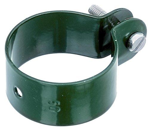 GAH-Alberts 655235 Schelle für Streben, grün kunststoffbeschichtet, Loch: Ø7 mm,5er Pack Schraube: M6 x 30 mm, Ø50 mm