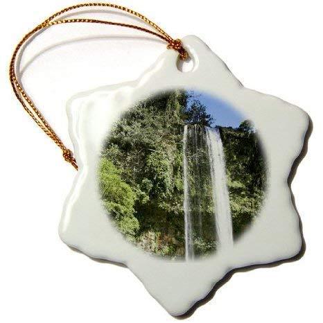 Cukudy VWPics Mexico – Cascada Misol Ha, Misol Ha Waterfall, Vicino Palenque, Chiapas, Messico in Ceramica, Ornamenti di Natale 2018 per Decorazioni Natalizie, 7,6 cm