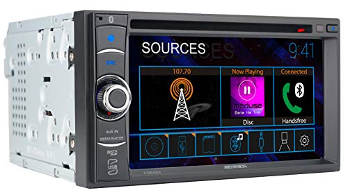 JENSEN CDR462 6.2 inch LED Multimedia Touch Screen Double Din Car Stereo |CD & DVD Player | Push to Talk Assistant | Bluetooth | Steering Wheel Control | USB & microSD Ports