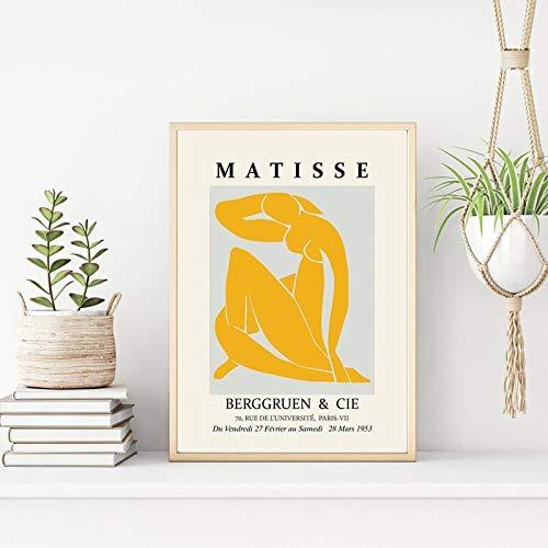 JIAYOUHUO Pinturas al óleo Minimalism Matisse impresas en lienzo Estilo nórdico pósteres e impresiones pared clásica imágenes artísticas para decoración del hogar