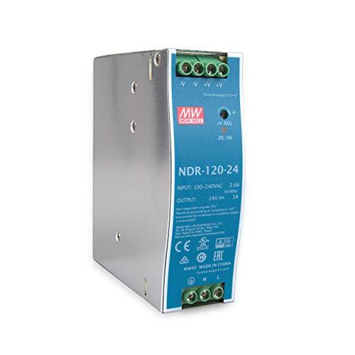 Unbekannt MEAN WELL original NDR-120-24 24V 5A meanwell NDR-120 24V 120W single - produktion industrielle din - schiene stromversorgung