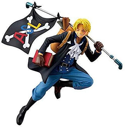VNNY 21CM One Piece Ruffy Ace Sabo Anime Actionfigur DREI rennende Brüder Figur Spielzeug Sammlermodell für Kinder Geschenke-As-Sabo