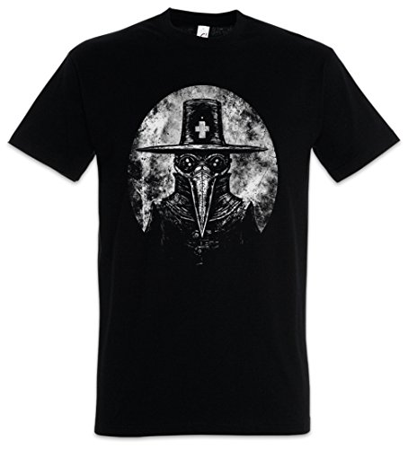 Urban Backwoods Plague Doctor I Herren T-Shirt Schwarz Größe S