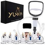 YUMAYA® Premium Schröpfgläser mit Vakuumpumpe und Ventil 12 Stück | Schröpfgläser Set...
