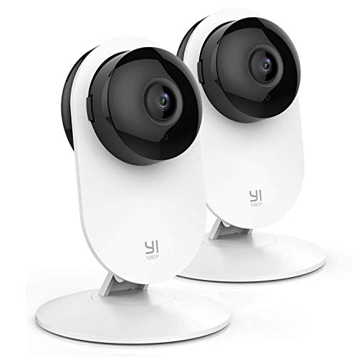 YI Home Camera 1080p Kit da 2 ,IP Camera WiFi,Telecamera Interno di Sorveglianza con Rilevamento di...