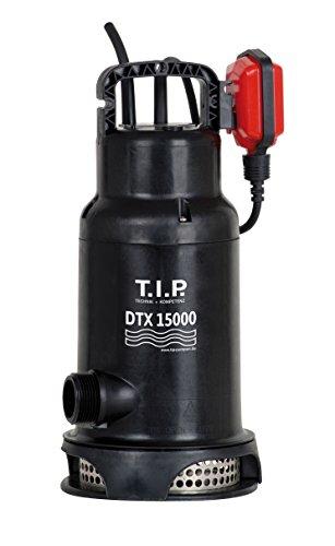 T.I.P. 30257 dauerlauffeste Schmutzwasser-Tauchpumpe DTX 15000, bis 15.000 l/h Fördermenge