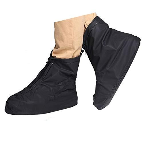 Wodoodporna osłona na buty, wielokrotnego użytku męskie wodoodporne kolarskie wędrówki przeciwdeszczowe pokrowce na buty lekkie antypoślizgowe buty (XL, czarny krótki but)