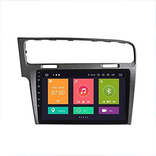 HP CAMP Autoradio Sat NAV Doppel-DIN-Radio-Head Unit für Volkswagen Golf 7 2014-2018 GPS Navigation 9-Zoll-Multimedia-Player Videoempfänger DSP RDS OBD DAB,4 core,4G WiFi 2G+32G