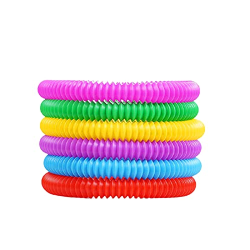 Huohua 6pcs Pops Tubes Sensory Toys for Autistic Children and Fidgets for Kids Stress Relief Toys