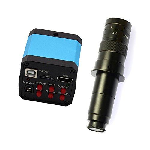 HAYEAR Full Set 14MP Industrial Digital Microscope Camera HDMI USB Outputs+180X C-Mount Lens+8