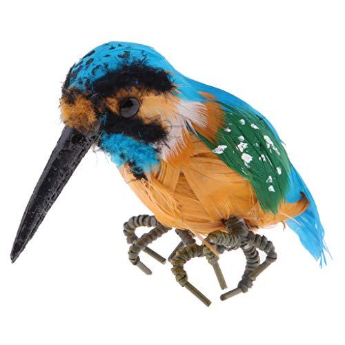 F Fityle Waldvögel Vogelfigur für Garten Hof Balkon Yard Dekor - Eisvogel 14 cm