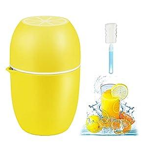 ZHOUSTOU Exprimidor ManualPortátil Exprimidor LimonPlástico Pequeño Exprimidor de Naranjas Adecuado para Frutas Sandía, Manzana, Limón, Cítricos