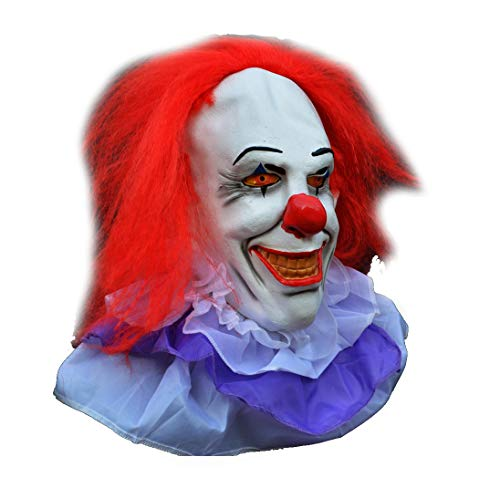 Acid Tactical Scary Creepy Halloween Clown Evil Latex Mask - Classic Pennywise Clown