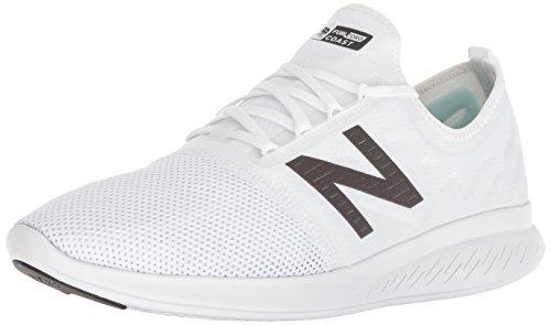 New Balance Coast V4 FuelCore, Zapatillas para Correr Hombre, Blanco y Negro, 44 EU