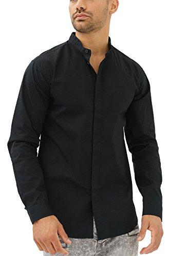 trueprodigy Casual Hombre Marca Camisa Basico Ropa Retro Vintage Rock Vestir Moda Cuello Alto Manga Larga Slim Fit...