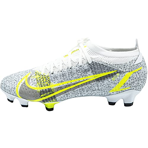 Nike Vapor 14 Pro FG, Zapatillas de ftbol Unisex Adulto, White Black Mtlc Silver Volt, 39 EU