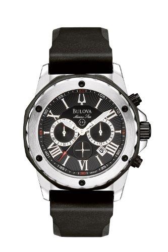 Bulova Men's 98B127 Marine Star Black Dial Strap Watch