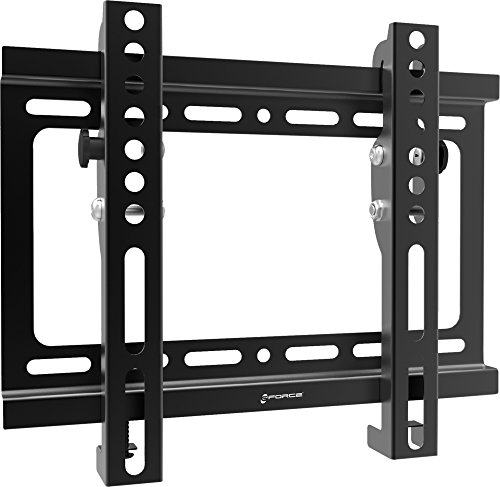 "GForce Tilting TV Wall Mount for Most 17"" - 42"" Inch LED, LCD and Plasma TVs - VESA Compatible - 25Kg/55LBS Weight Capacity - Black"