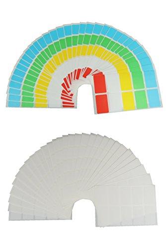 JustRean Live 400 Haushalts Aufkleber & Gefrieretiketten farbig und weiß - Gefrier Etiketten 30x20mm selbstklebend