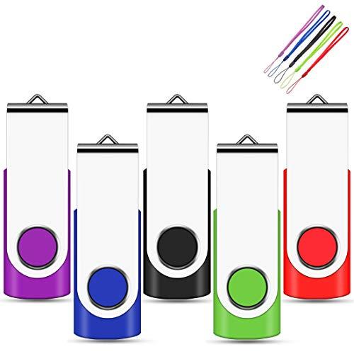 EASTBULL 32GB USB Stick 5 stück Mehrfarbig USB 2.0 Speicherstick USB Sticks Data Datenspeicher Mehrfarbig