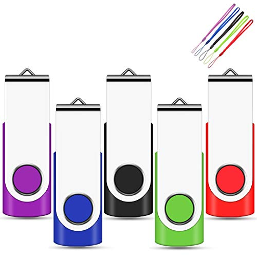 EASTBULL Chiavetta USB da 64 GB, 5 pezzi, ad alta velocità, trasmissione dati (5 colori