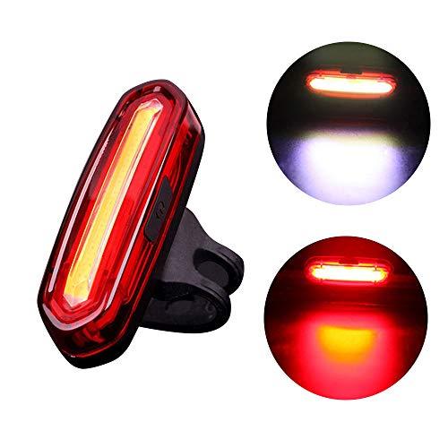 Neueste LED Fahrradbeleuchtung Fahrradlicht, USB wiederaufladbare Fahrrad Rücklicht Fahrrad, 4/6 Modi Fahrradleuchte Fahrradbeleuchtung Aufladbare Fahrradlichter Für Camping Angeln Warnlicht (D)