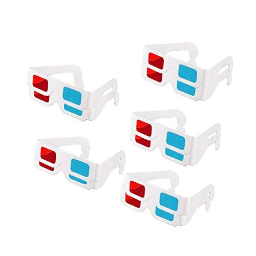 3D-Brille, Papier, Rot und Blau, Stereo-Brille für Filmdekoration, 10 Paar