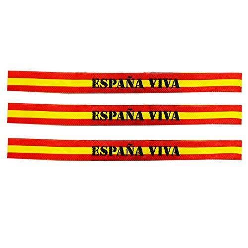 Pulsera Tela España. España Viva. Medida: 30 x 1.5 cm