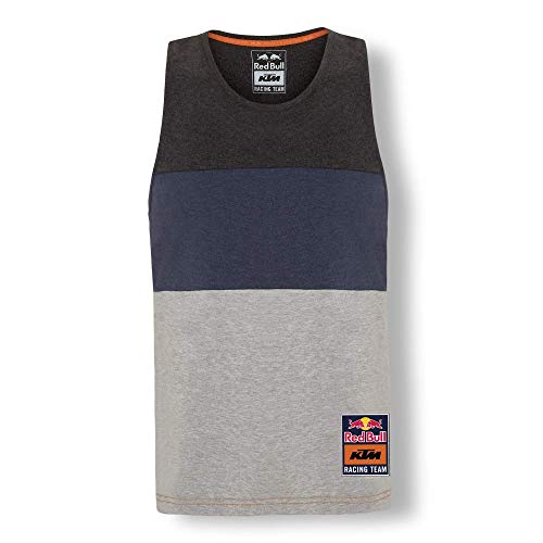 Red Bull KTM Letra Tanktop, Gris Herren Small T-Shirt, KTM Racing Team Original Bekleidung & Merchandise