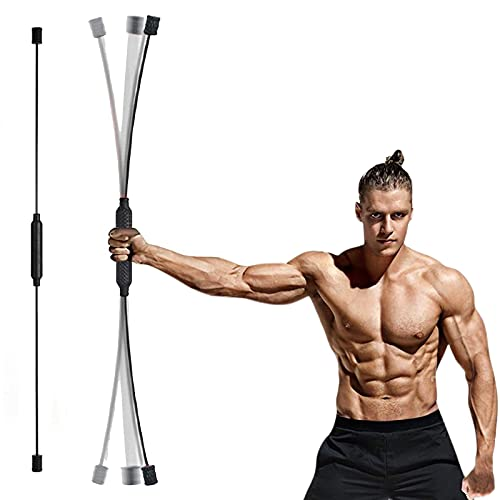 Elastic Fitness Bar for Full-Body Training Muscle, Weight Loss Exercise Fat Burning Training Tremor Stick, Multi-Functional Fitness Stretch Bar Muscle Training Stick