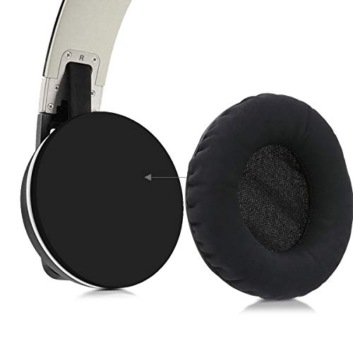 PU Leather Replacement Ear Pads for Over-Ear Headphones White kwmobile 2X Earpads for HD25 //HD 25-1 II //PC150 //PC151 //PC155