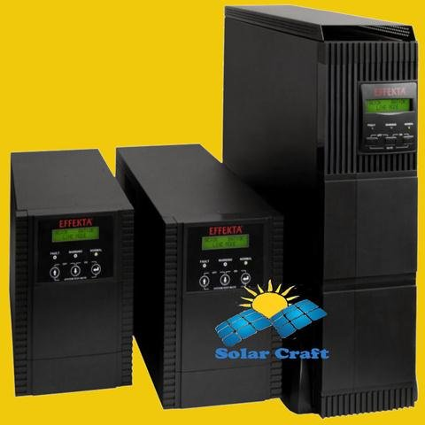 Wechselrichter EFFEKTA Interactive UPS Converter wiederaufladbar Akku 1500VA