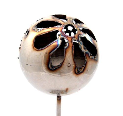 Gartenfackel Feuerkugel XL – Blume, Höhe: 100 cm , Gewicht: 0.8 kg, Durchmesser: 18 cm
