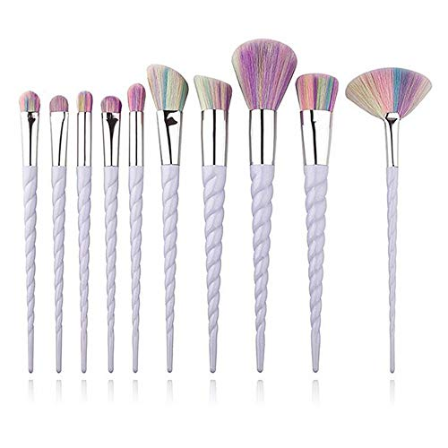 TYJKL Brosse Multifonctions Maquillage Outils de Maquillage Maquillage Portable Brosse 10 Morceaux Outils De Maquillage Professionnels
