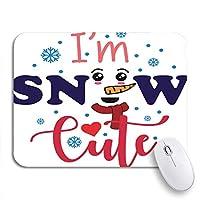 """ゲーミングマウスパッドI ' m雪かわいいクリスマスニッチ言うデザインアートベル子供冷たいカラフル田舎9.5"""" x7.9""""ノンスリップゴムコンピュータマウスパッドノートブックマット"""
