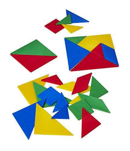 Wissner Tangram Set de 28 pièces dans Un Sac en Plastique 10 x 10 cm, Wissner080700.000, Multicolore