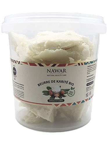 Beurre de karité BIO Brut 500 g 100% pur -Qualité supérieure - Végan- équitable, non raffiné, non désodorisé, non décoloré. Approvisionnement éthique du Burkina ***texture riche et fondante***